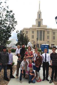 Anderson family in Utah