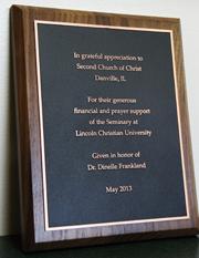 Danville Gift plaque