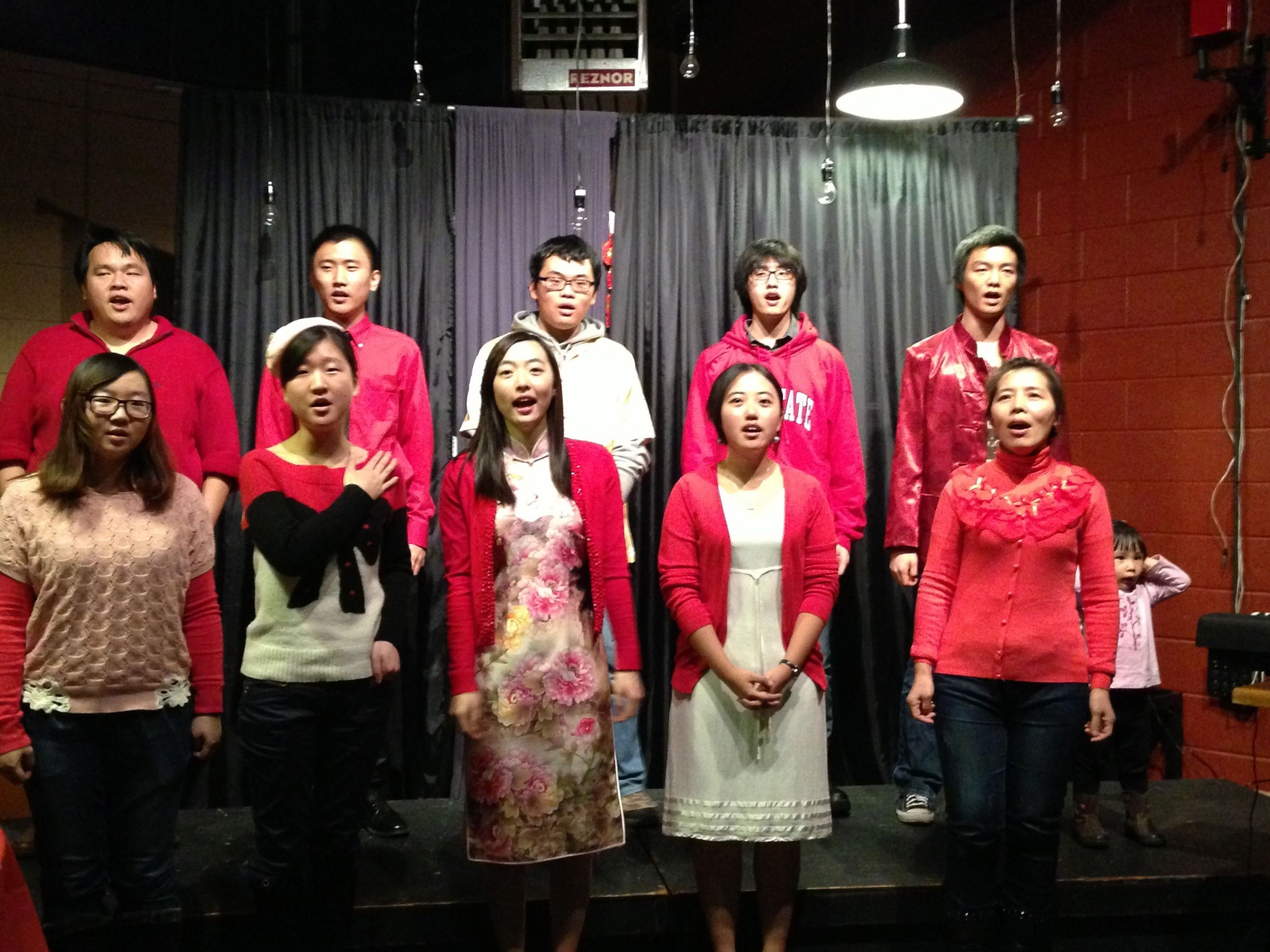 Chinese students sing