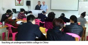 Poling teaching at Bible college